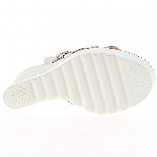 Sandales compensées blanches à talon de 12,5cm et semelle épaisse blanche