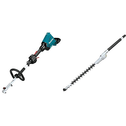 Makita XUX01Z 18V X2 (36V) LXT Lithium-Ion Brushless Cordless Couple Shaft Power Head, Tool Only with EN410MP 20'' Double-Sided Hedge Trimmer Couple Shaft Attachment by Makita