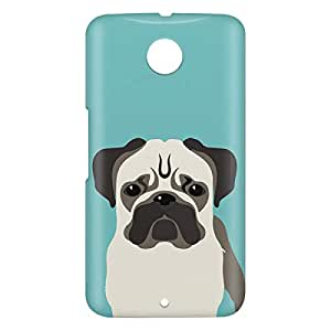 Loud Universe Motorola Nexus 6 3D Wrap Around Pug Dog Print Cover - Multi Color