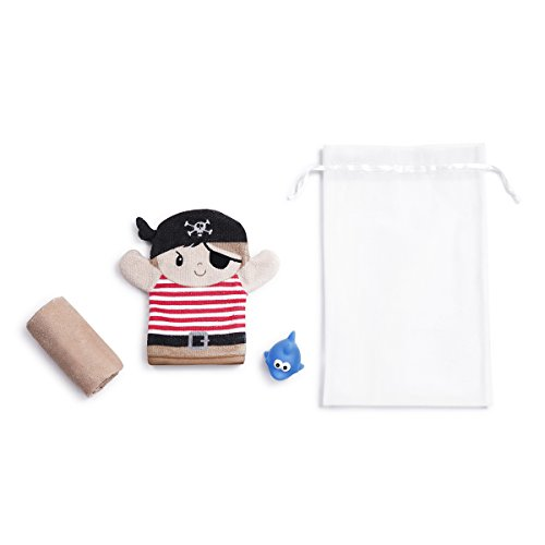 Demdaco Baby 3 Piece Bath Gift Set, Pirate