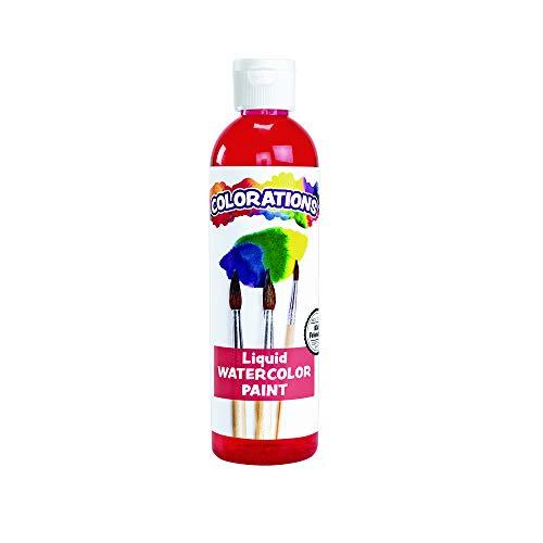 Colorations LWRE Liquid Watercolor Paint, Red - 8 oz. ()