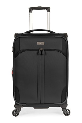 Antler Aire Dlx Softside Black 22'' Expandable, Color: Black, Size: Cabin by Antler