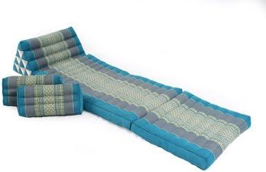 2 rechteckige Kissen 35x15x10 hellblau Set Thaikissen 170x50