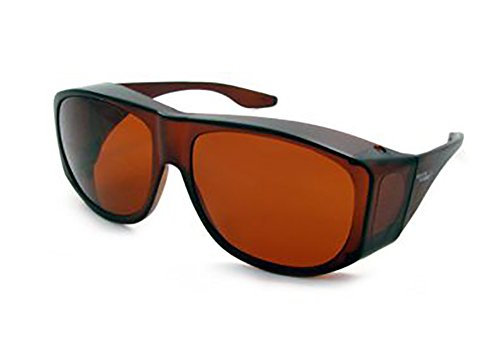 Solar Shield Fits-Over SS Polycarbonate II Amber Sunglasses, 50-15-125mm 29008-AMBER