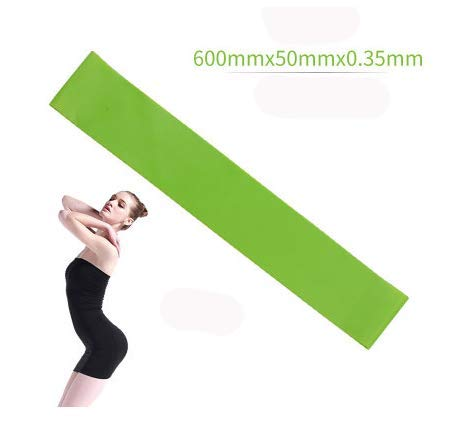 Resistance Bands Rubber Band Workout Fitness Gym Equipment Rubber Loops Latex Yoga Gym Strength Training Athletic Rubber Bands (Green)