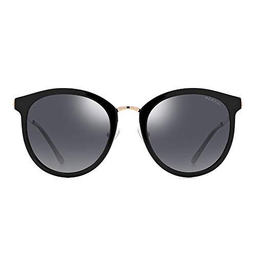 Gafas Las Gafas Mujer Retro de Metal Sol Sol de polarizada de luz KHIAD Tiro Calle AvqUwdw