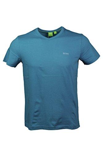 Hugo Boss Mens Short Sleeve V-neck T-shirt - Teal (M)