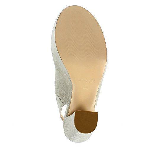 Evita Shoes Stefania - Zapatos de vestir de Piel para mujer gris claro
