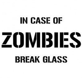 Zombie Outbreak in Case of Zombies Break Glass Decal Funny Vinyl Decal Sticker Window By Boston Deals USA (In Case Of Zombie Apocalypse Break Glass)