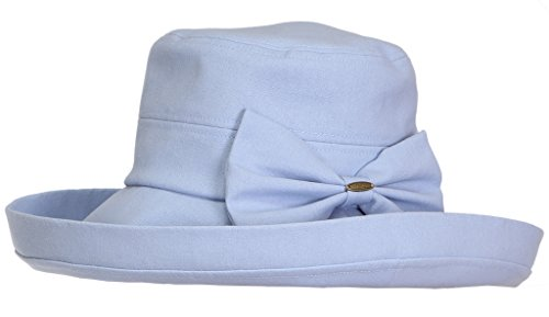 H-6002-28 Packable Linen Blend Bow Hat - Baby (Funky Cotton Hats)