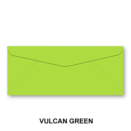 Lime Green Envelopes (Neenah Astrobrights #10 Color Envelopes - 50 Envelopes (Vulcan Green))