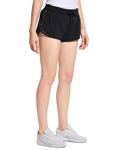 4f09ee2d508df CRZ YOGA Women's Workout Running Sports Shorts with Pocket - 2.5'' Black -  2.5'' XS(0/2)