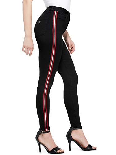 GUESS Factory Women's Johnna High-Rise Side Stripe Skinny Jeans ()