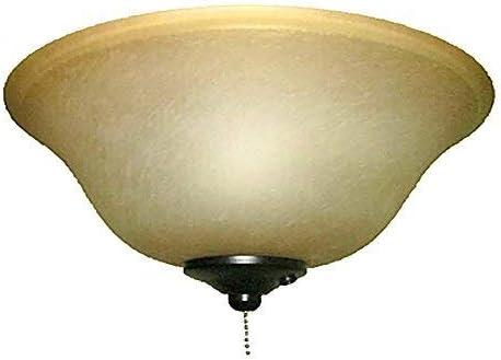 Harbor Breeze 2-Light Aged bronze Ceiling Fan Light Kit with Alabaster Glass
