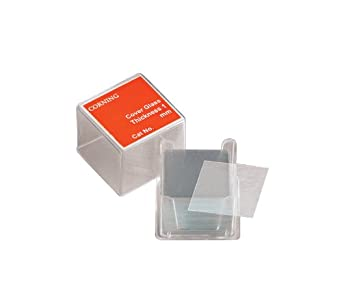 Corning 2850-18 Borosilicate Glass Square #1-1/2 Cover Glass, 18mm L x 18mm W (Case of 2000)