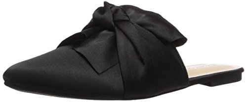 Bow Mule (Qupid Women's Swirl-100 Mule, Black, 6.5 M US)