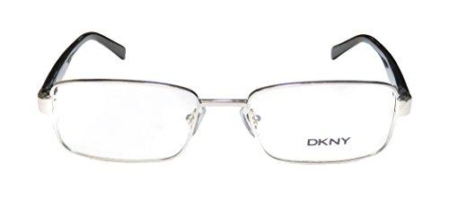 dkny-5638-mens-designer-full-rim-spring-hinges-eyeglasses-eyewear-51-17-135-silver-black