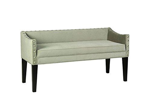 Bench Green 6 - Leffler Home 13000-02-06-01 Whitney Transitional Long Upholstered Bench, Green