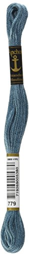 Anchor Six Strand Embroidery Floss 8.75 Yards-Blue Mist Medium Dark 12 per Box