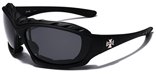 Oversized Choppers Men's Sport Padded Motorcycle Bikers Sunglasses MATTE - Bikers Sunglasses