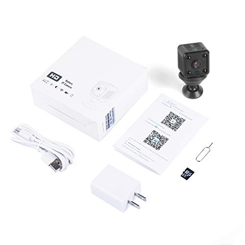 WOKALON Mini Hidden Spy Camera with SD Card, 1080P WIFI Wireless Small Security Surveillance Smart System with Motion Detection Night Vision Monitor 1-Way Audio Cloud Service Available for Office Home