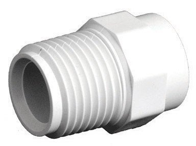 King Brothers Inc. RCM-1000-S 1-Inch Threaded PXL CPVC Male Adapter, Tan