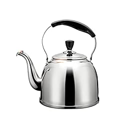 Whistling kettle, stainless steel, suitable for all stove/fireplace types, with ergonomic handle, 3L/4L/5L,Stovetop…