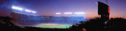 (Walls 360 Peel & Stick Baseball Stadium Wall Mural: Stadium Lights Wrigley Field (48 in x 12 in) )