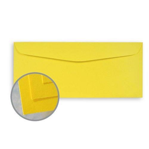 BriteHue Sun Yellow Envelopes - No. 10 Commercial (4 1/8 x 9 1/2) 60 lb Text Semi-Vellum 30% Recycled 500 per Box