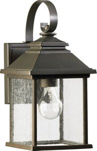Quorum One Light Outdoor Wall Lantern Oiled Bronze