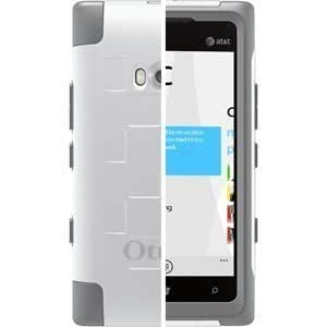 OtterBox 77-19663 Commuter Series Hybrid Case for Nokia Lumia 900 - 1 Pack - Retail Packaging - White/Gunmetal Gray