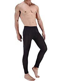 LinvMe Men's Ice Silk See Through Long Pants Slim Leggings Tights