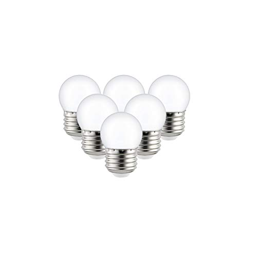 Sunlite 41067-SU LED S11 Refrigerator and Freezer Appliance Light Bulb, Warm White, 6 Pack, Frosted