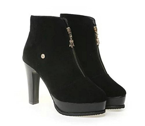 Party Black Thigh MNII Knee High Heel Ladies Over Stretch The Block shoes Fashion Mid Size Boots Womens HOOApqPwra