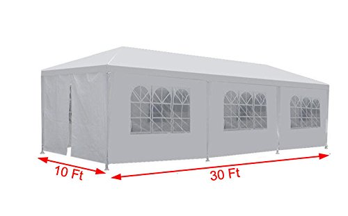 y White Party Tent Outdoor Gazebo Wedding Tent with Removable Walls (5 Removable Walls) (Party Tent Top)