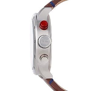 Reloj analógico de cuarzo para hombre Tommy Hilfiger Trent 1791066, correa de piel marrón. 2