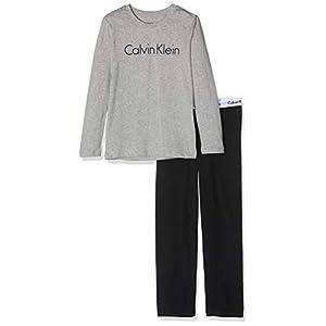 Calvin Klein Boy's Ls Knit Pj Pyjama Set (Pack of 2)