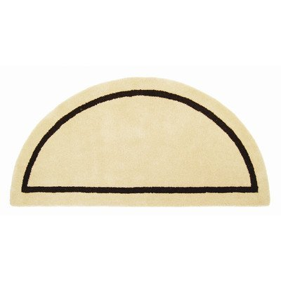 Minuteman International Mesa Tan Contemporary Wool Hearth Rug (Half Round) by Minuteman (Minuteman Contemporary Hearth Rug)