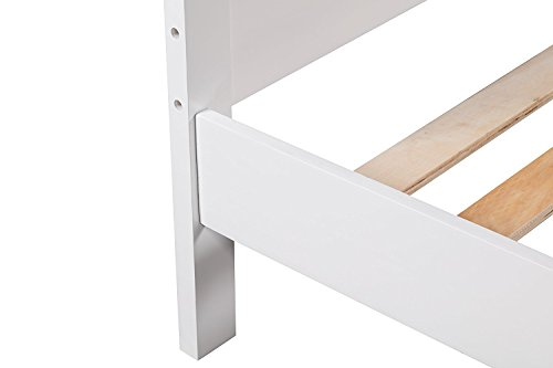 Merax Wooden Platform Bed Frame with Storage Drawers/Headboard White
