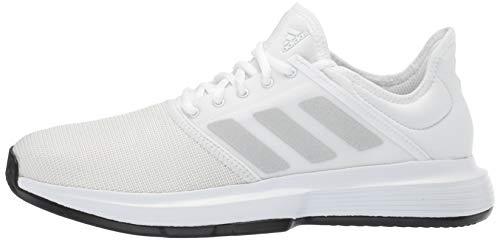 adidas Men's Gamecourt, White/Matte Silver/Black, 7.5 M US by adidas (Image #5)