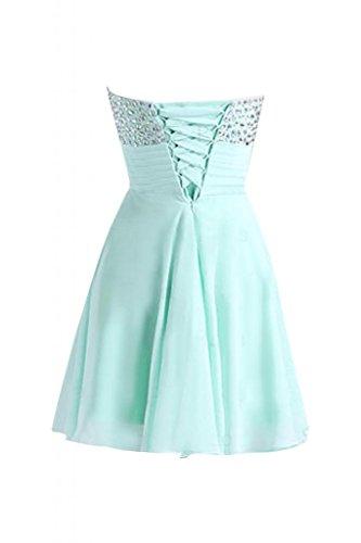 tesoro Sunvary Abito colletto Gowns 40 elegante menta Prom da Mini corto Cocktail Verde TSaT4rnx