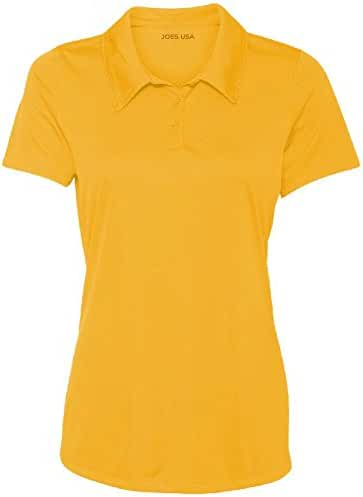 Ladies Golf Polos - Moisture Wicking 3-Button Golf Polos in 20 Colors - XS-3XL