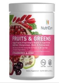 NutriDyn Fruits & Greens Strawberry/Kiwi Flavor *Certified Organic* w/ Acai, Gogi, Mangosteen, Noni & Pomegranate Super Fruits 300 Grams (Strawberry Kiki) Review