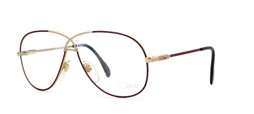 Cazal 728 331 Brown and Gold Authentic Men - Women Vintage Eyeglasses - Cazal Vintage Frames