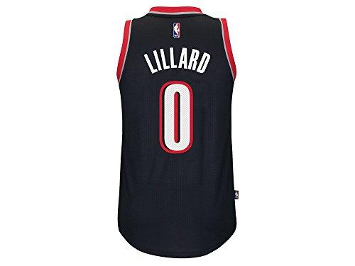 adidas Damian Lillard Portland Trail Blazers NBA Swingman Jersey - Black