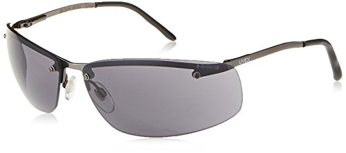 (Uvex S4111X Slate Safety Eyewear, Matte Gunmetal Frame, Gray Uvextra Anti-Fog Lens)