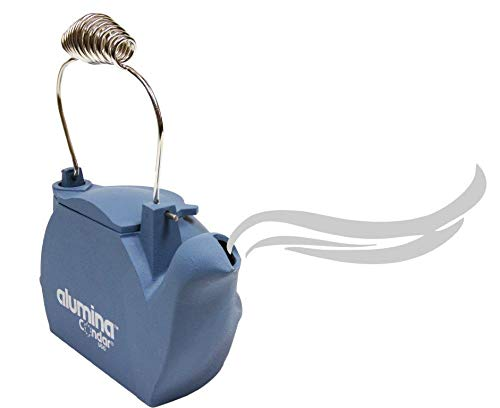 Condar's Aluminum Humidifier Steamer (HK-BL) is crafted from recycled Cast Aluminum in a family owned foundry, right here in the USA. GLACIER BLUE FINISH WITH CHROME HANDLE