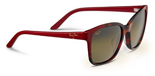 Maui Jim Moonbow Polarized Sunglasses Tortoise with Red / HCL Bronze One - Style Jim Maui Wayfarer