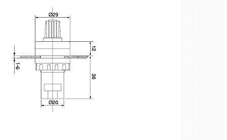 Taiss// 1Pcs LA42DWQ-22 22mm 1k ohm Governor Rotary Potentiometer Inverter Converter Resistance Variable Frequency Converter Speed Drive Potentiometer b1k ohm