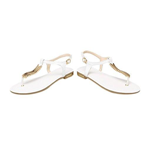 EKS - Sandalias de vestir de Piel para mujer White-Leder